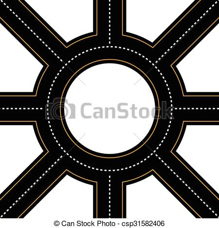 Roundabout road Clipart Vector Graphics. 391 Roundabout road EPS.