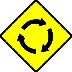Caution Roundabout Clip Art at Clker.com.