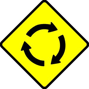 Caution Roundabout Clip Art at Clker.com.