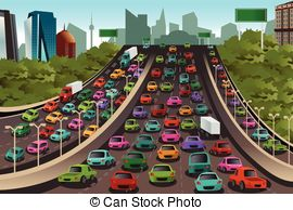 Rush hour traffic Illustrations and Clipart. 233 Rush hour traffic.