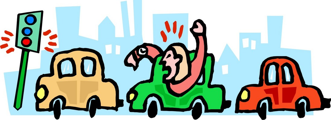 Rush Hour Traffic Clip Art.