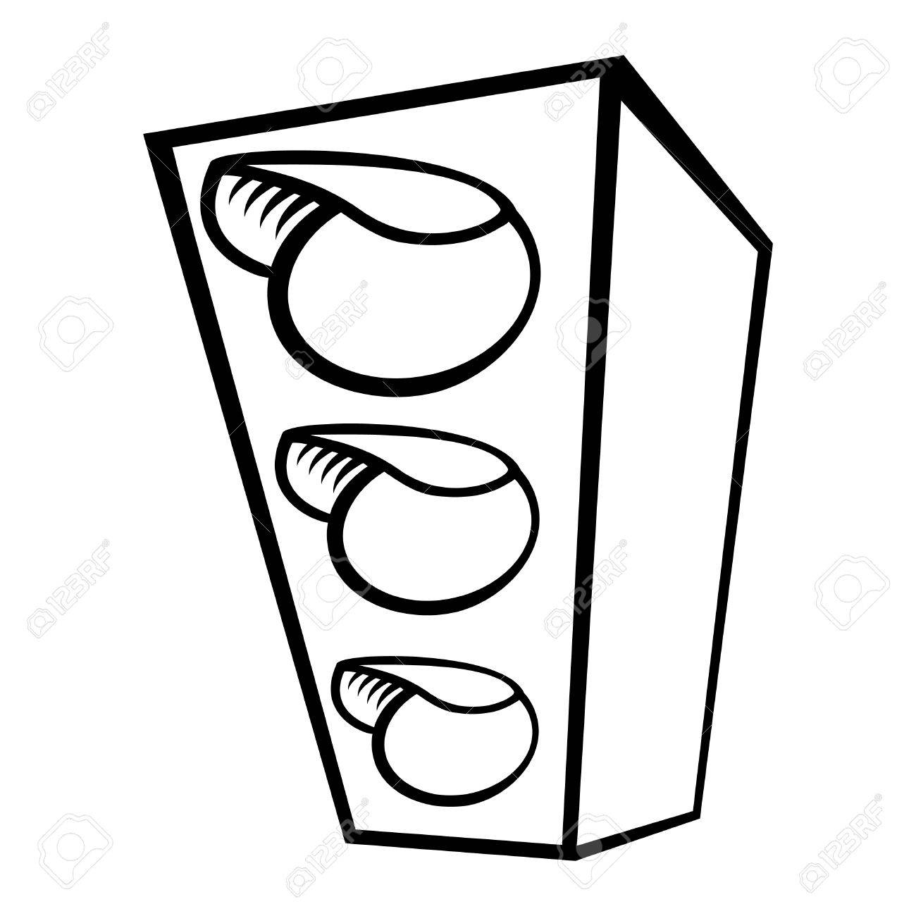 Traffic light clipart black and white 5 » Clipart Station.