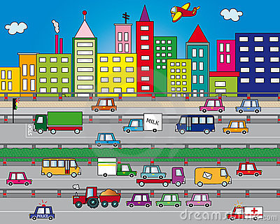 Traffic Stock Illustrations.
