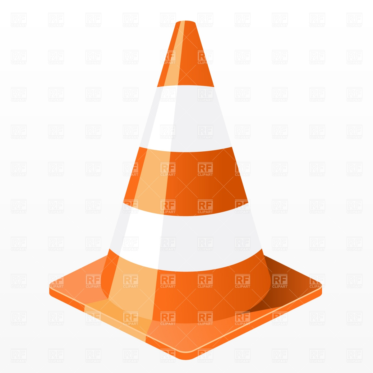 Red Traffic Cone Clipart.