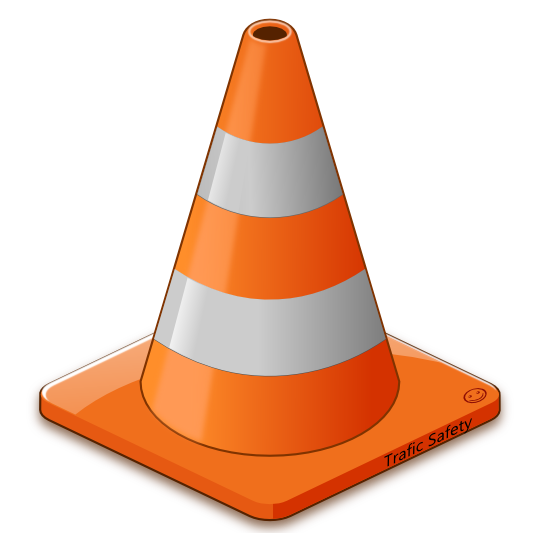 Road work cone clipart.