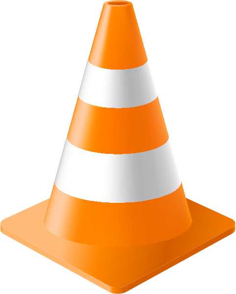 Orange Traffic Cone Clipart.