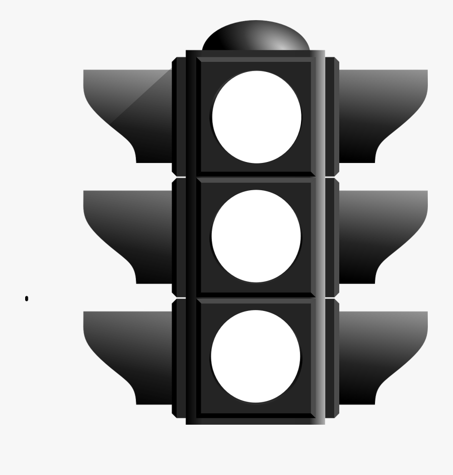 Black And White Traffic Light , Free Transparent Clipart.