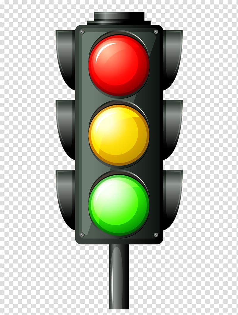 Traffic light transparent background PNG clipart.