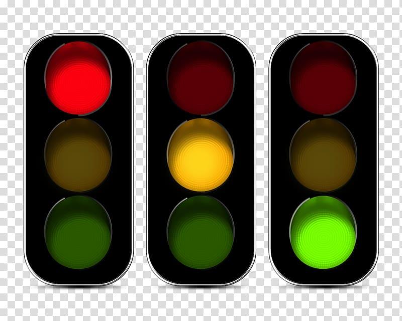 Three traffic lights illustration, Traffic light Traffic.