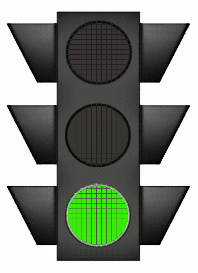 Clipart traffic light green.
