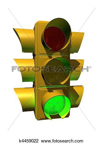 Clip Art of 3d traffic light k4459022.