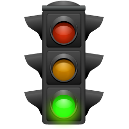 Traffic light green clipart.
