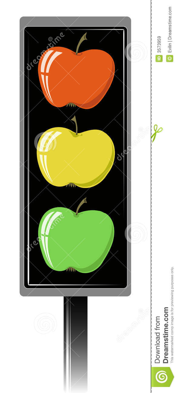 Apple Traffic Light Royalty Free Stock Images.