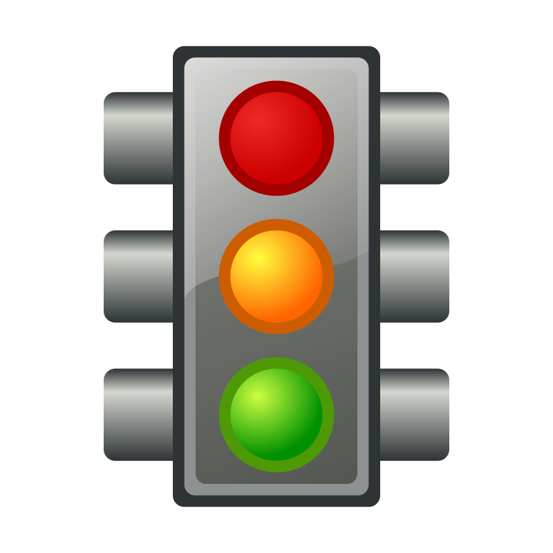 Traffic light stop light animated traffic clipart image.