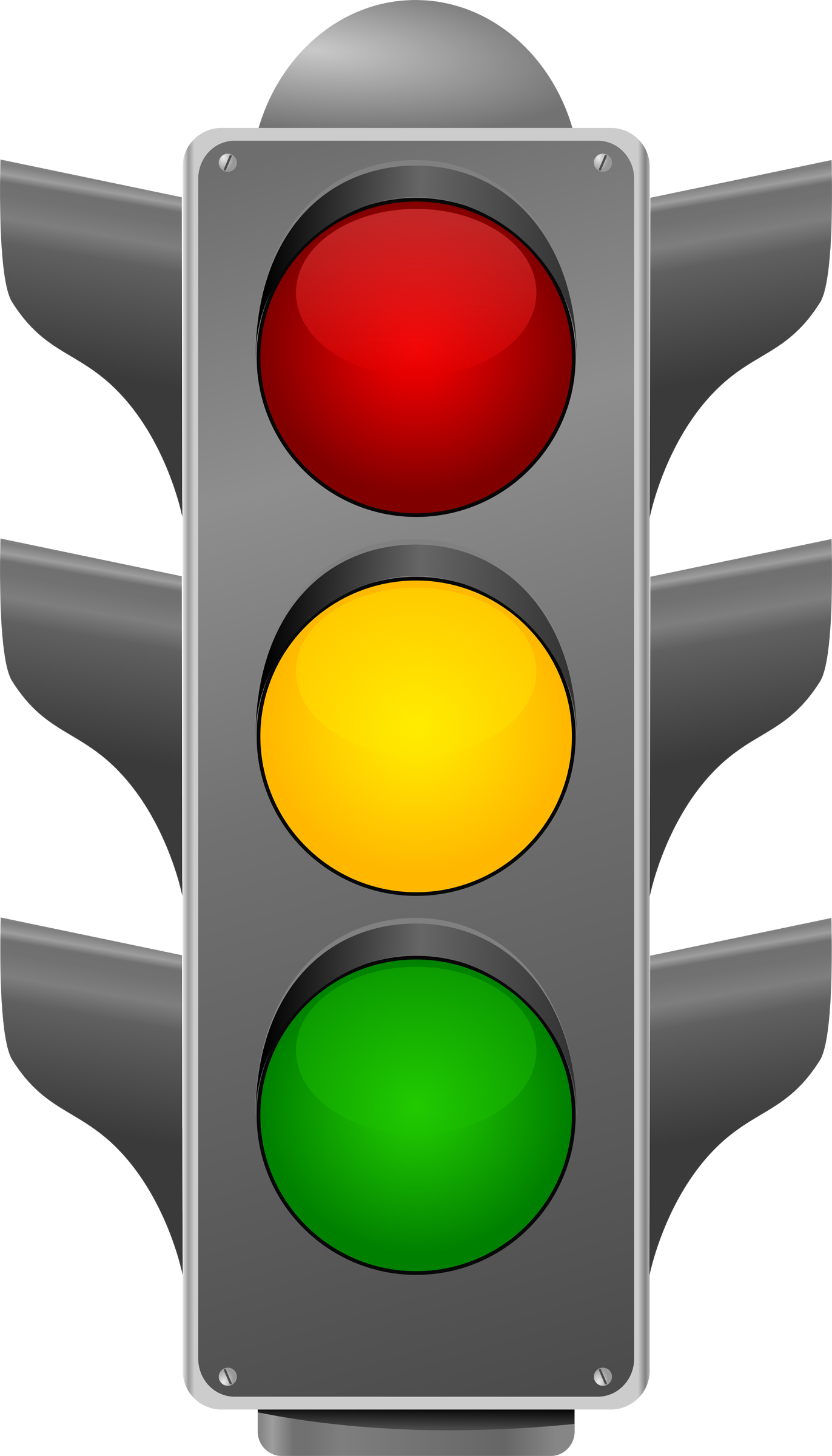 Traffic light signs clipart.