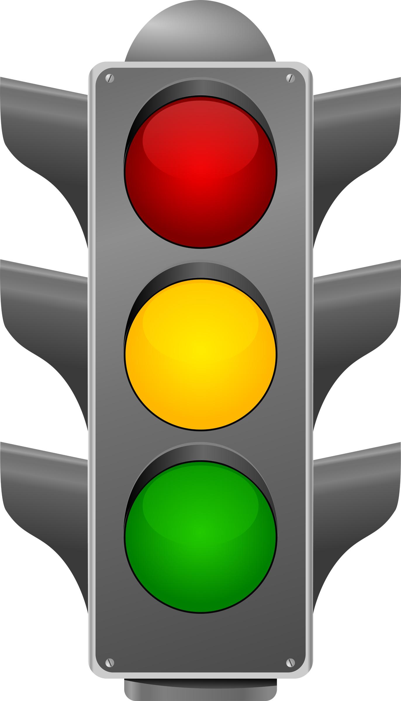 Traffic light signs clipart.