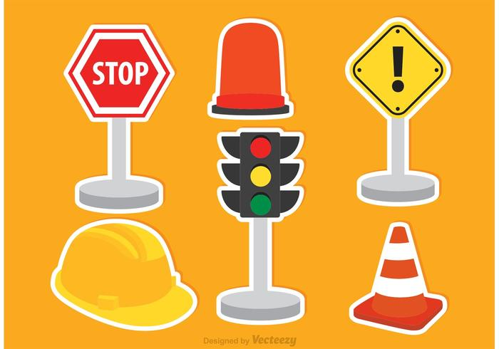 Vector Traffic Icons.