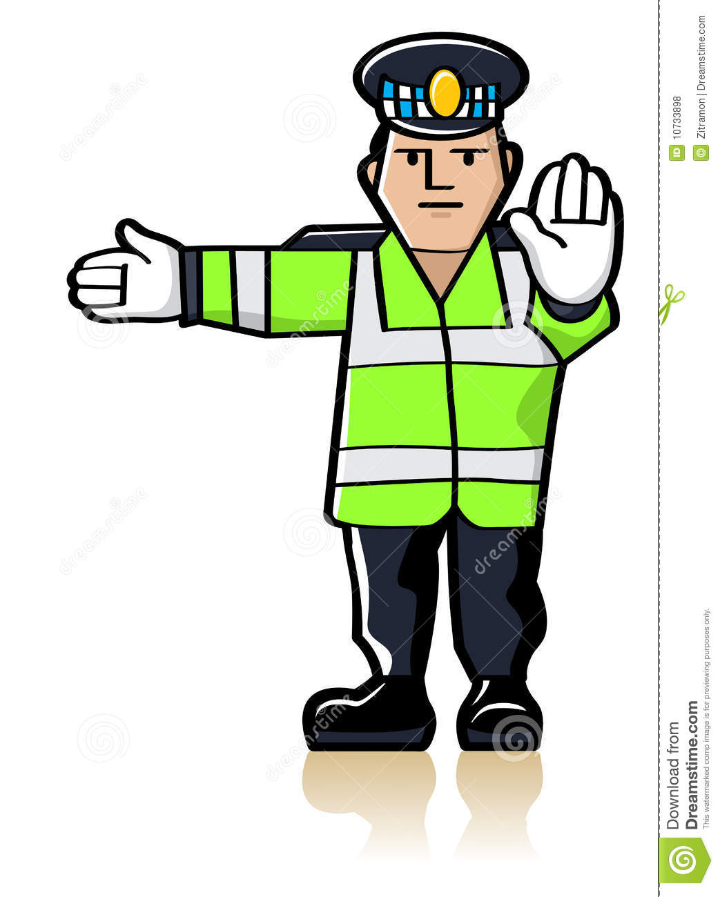 Traffic Officer Royalty Free Stock Photos.