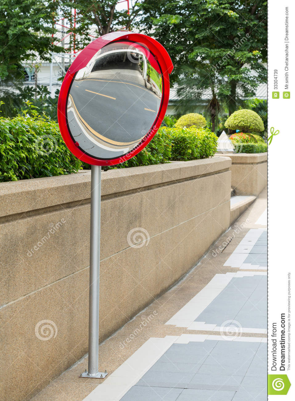 Traffic Convex Mirror Royalty Free Stock Images.