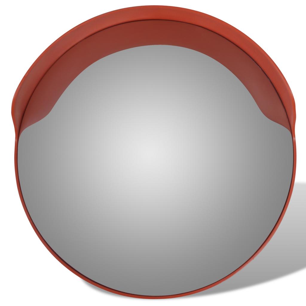 """Convex Traffic Mirror PC Plastic Orange 24"""" Outdoor."""