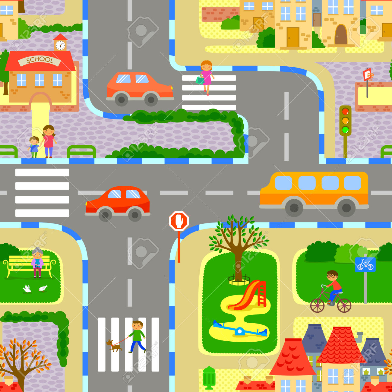Traffic Of People Clipart.