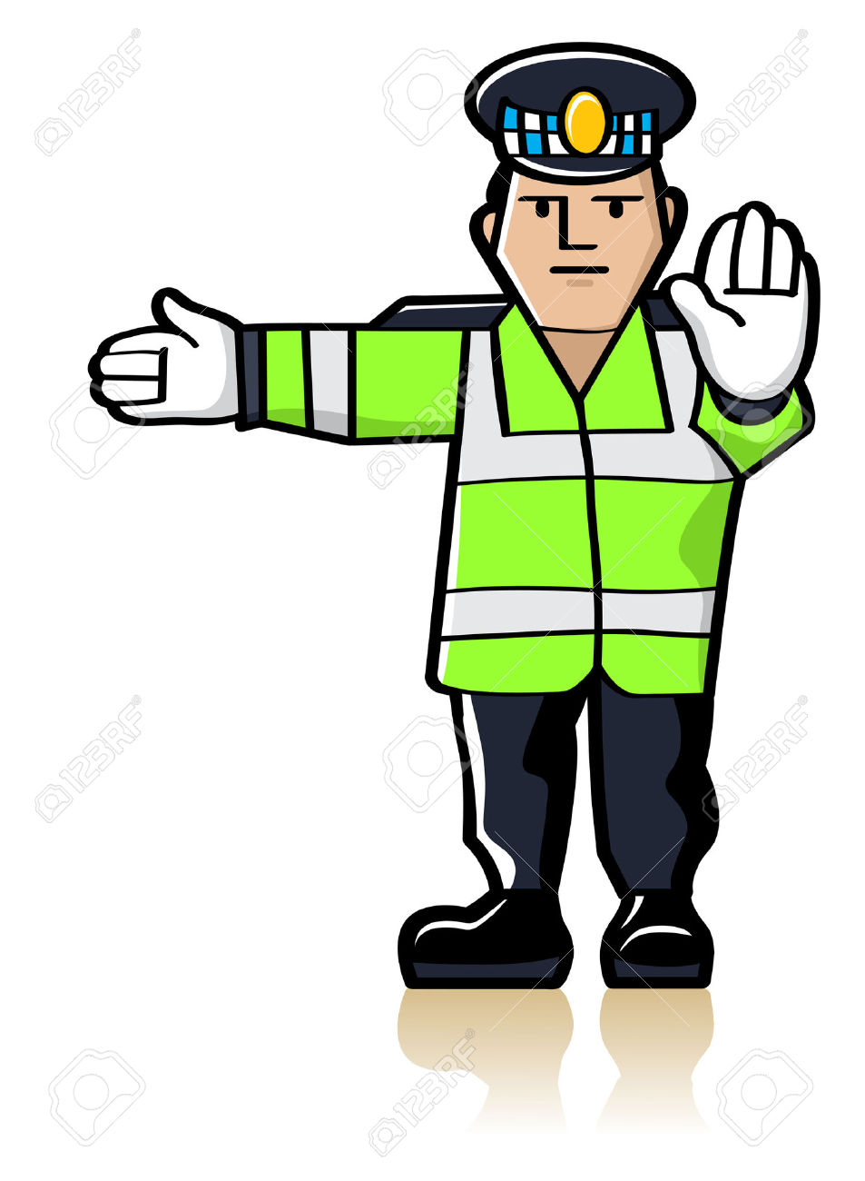 Traffic police clipart.