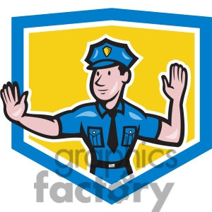 Indian traffic police clipart.