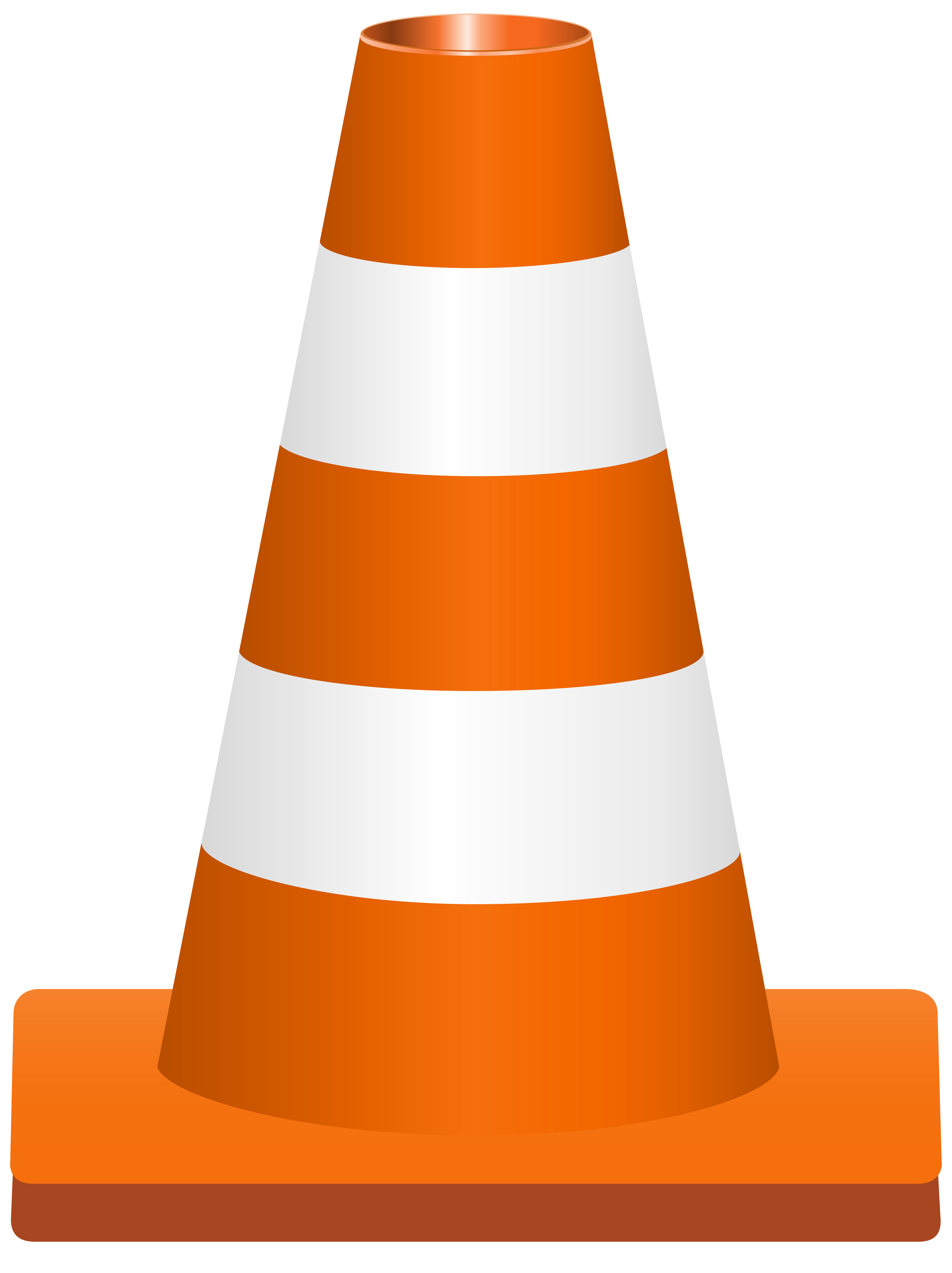Traffic Cone PNG Clip Art Image.