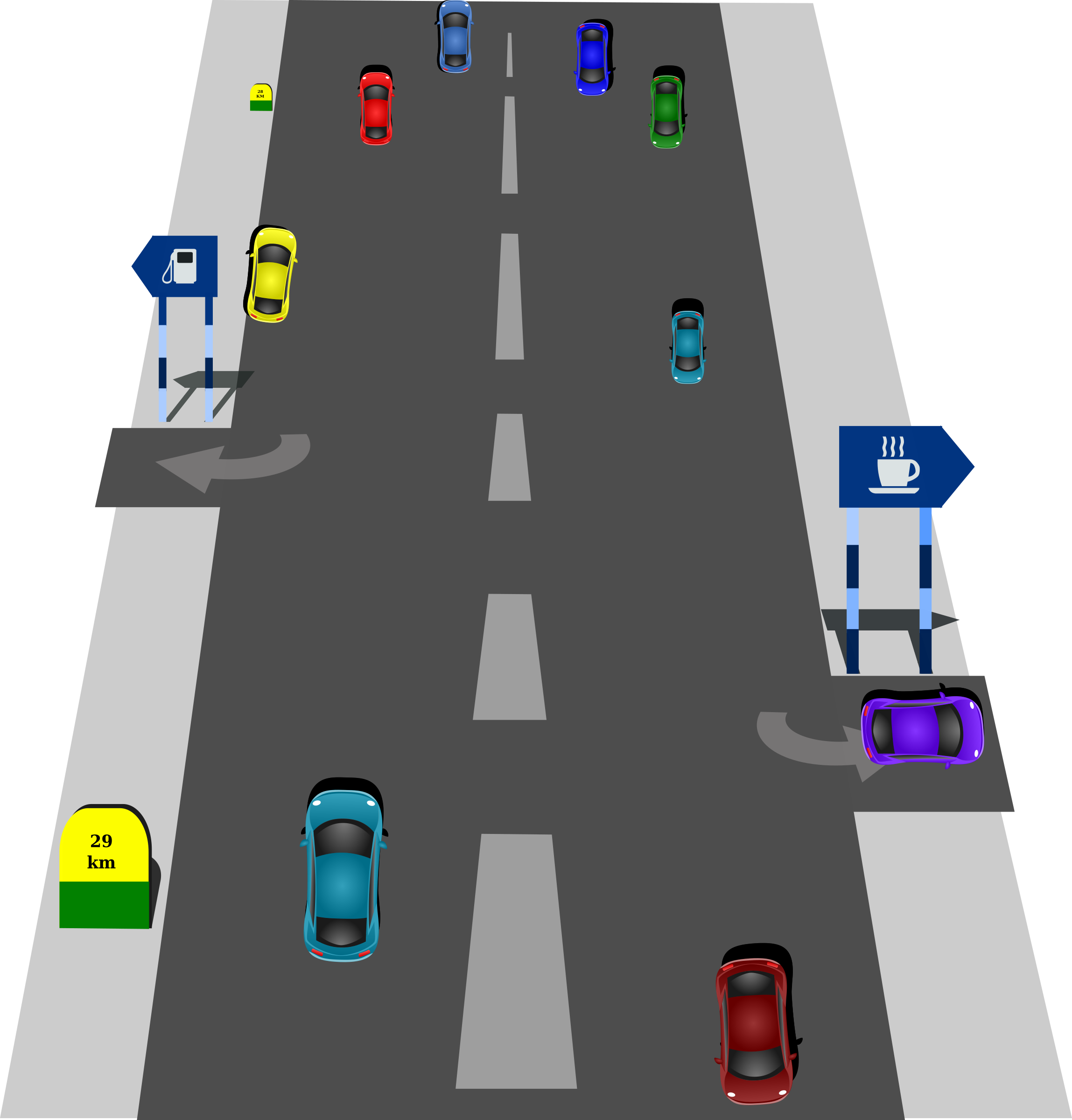 Traffic Roads Clipart.