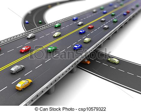 Traffic road clipart.