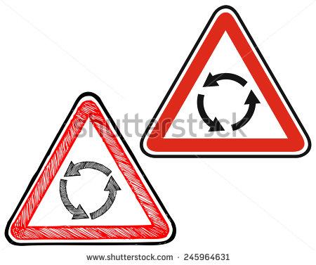 Roundabout Sign Stock Photos, Royalty.