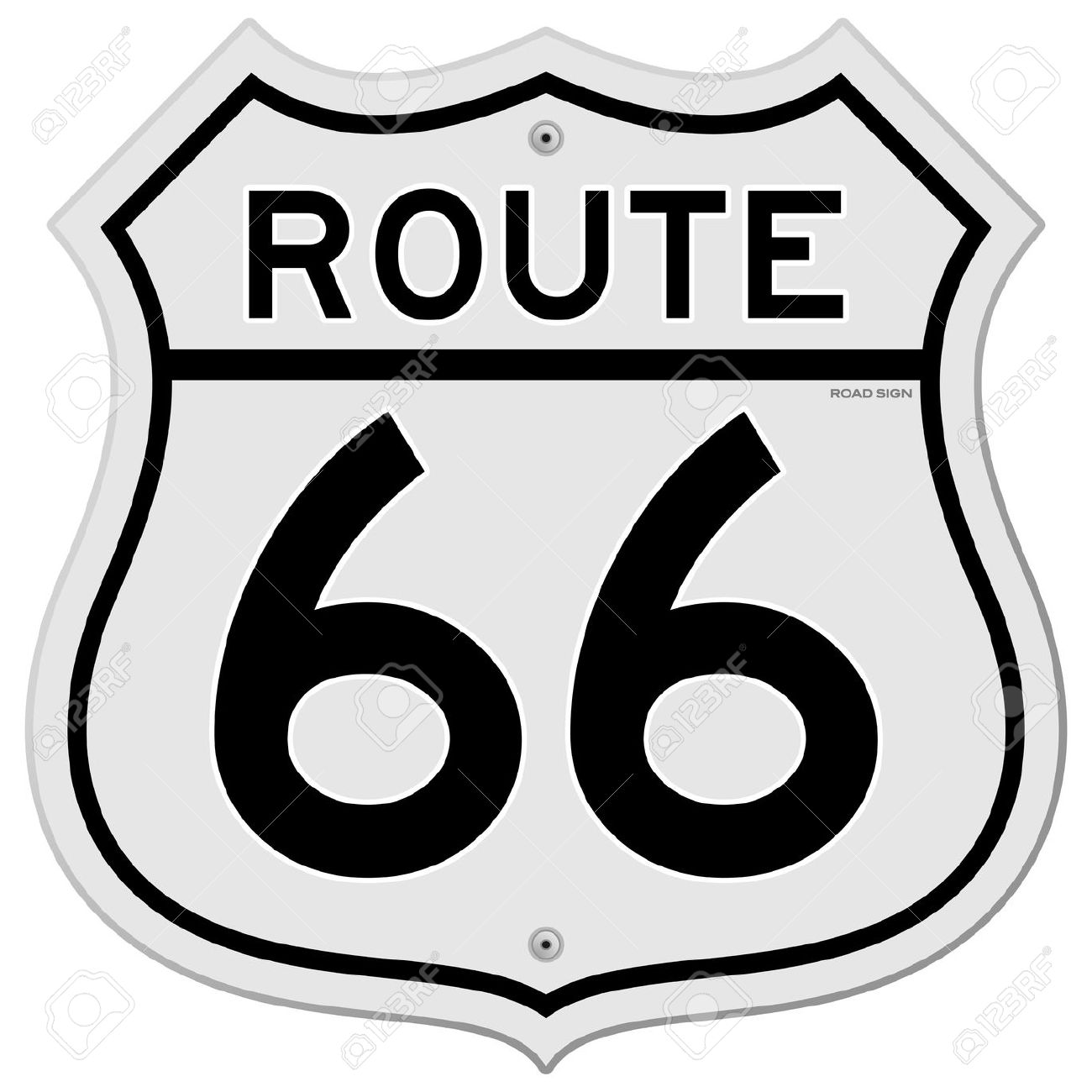 Route sign clip art.