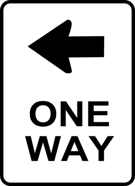 One Way Traffic Sign clip art Free vector in Open office drawing.
