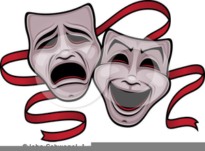 Comedy Tragedy Masks Clipart.
