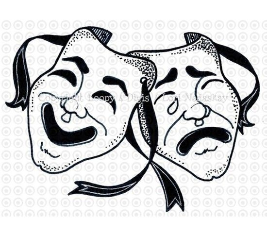 comedy tragedy music clip art.