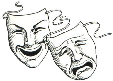 Comedy tragedy masks clip art.