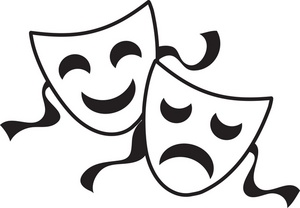 Comedy tragedy clipart.