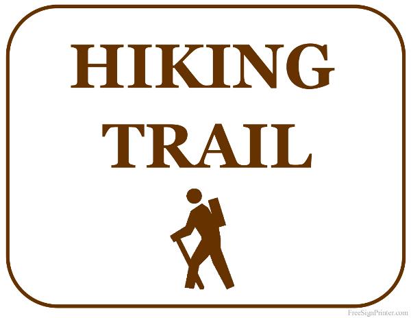 Hiking trail clipart.