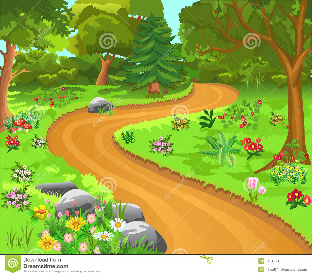 Animated Trail Clipart.