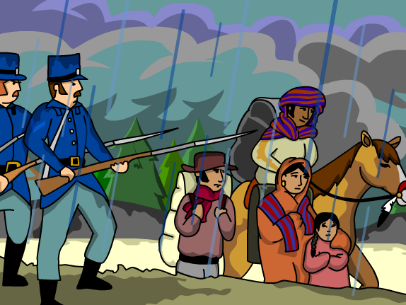 Trail Of Tears Clipart.