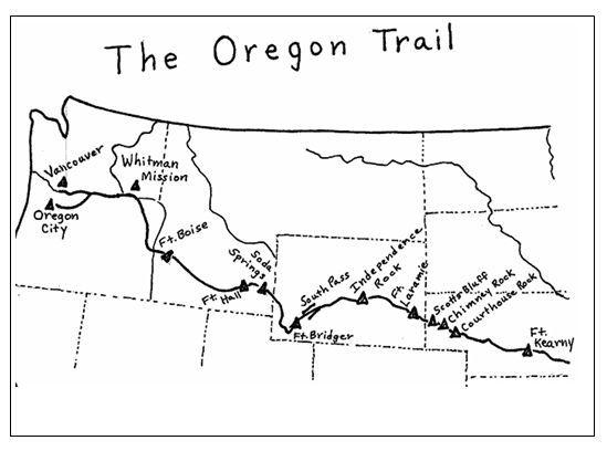 Trail Map Clipart.