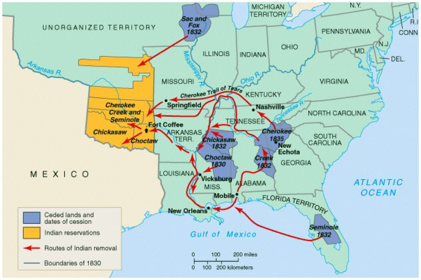 Indian Removal Act of 1830.