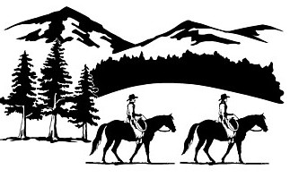 Western Trail Ride Clipart.