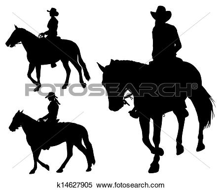 Stock Photo of young cowgirl with white horse outdoor k4359754.