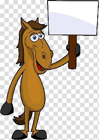 Horse Equestrianism Trail riding , cartoon horses.