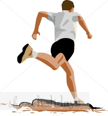 Trail Running Clipart.