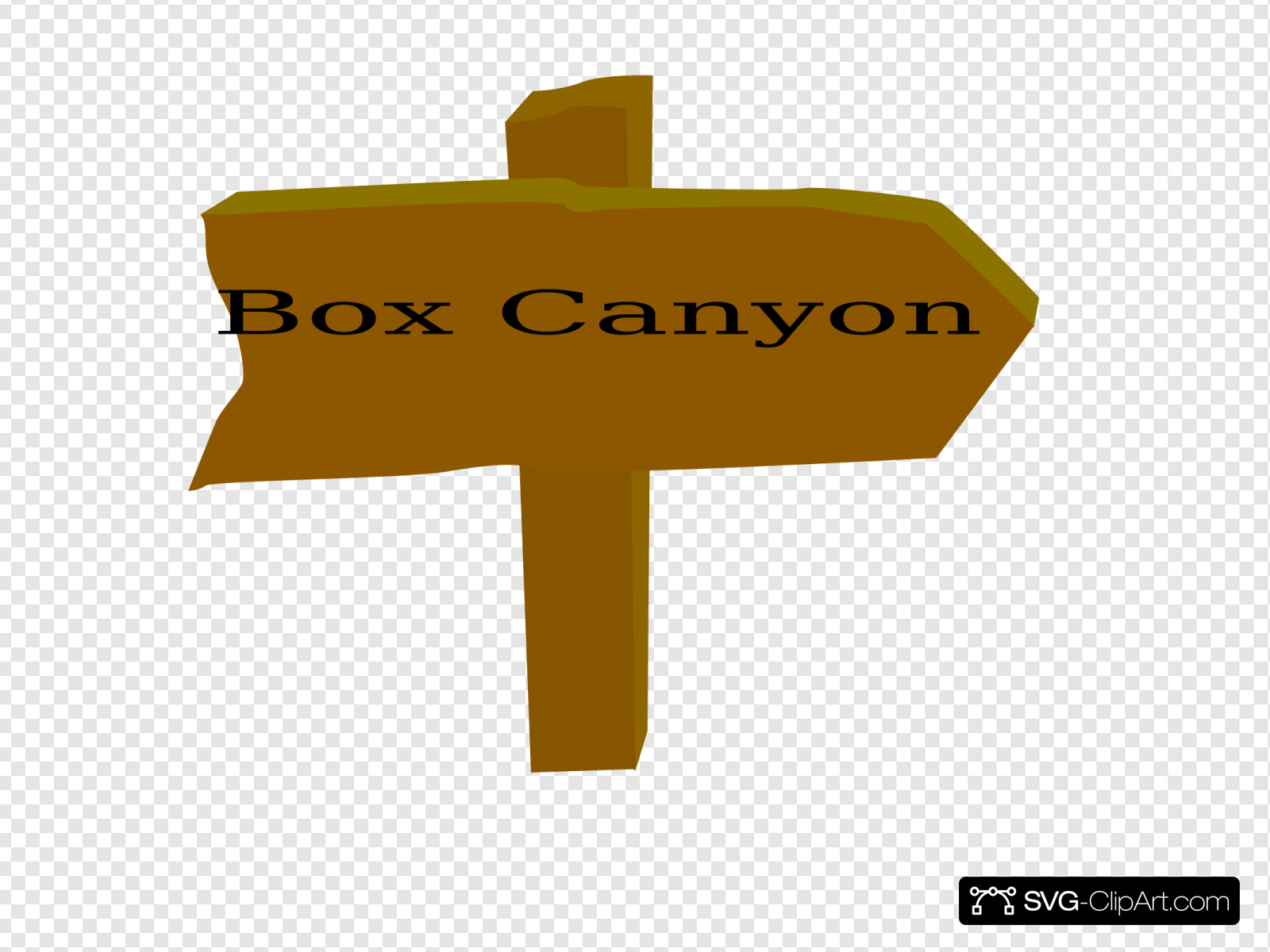 Box Canyon Trail Sign Clip art, Icon and SVG.