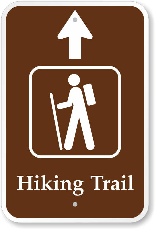 Trail Signs, Hiking Signs, Hiking Trail Symbols & Trail Markers..