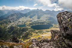 Valley Of Five Ponds In Tatry Mountains In Poland Stock Photo.