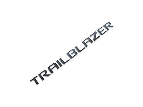 3d Emblem TRAILBLAZER for CHEVROLET TRAILBLAZER Chrome with Black  Replacement.